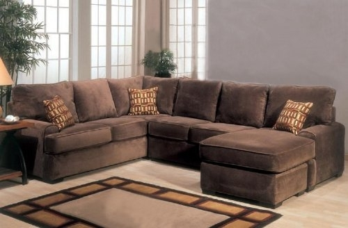 Microfiber Sectional Sofa With Chaise Living Room | Windigoturbines Intended For Sectional Sofas With Chaise (Image 6 of 10)