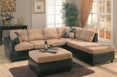 Microsuede Sectional Sofas – Home And Textiles Within Microsuede Sectional Sofas (Image 1 of 10)
