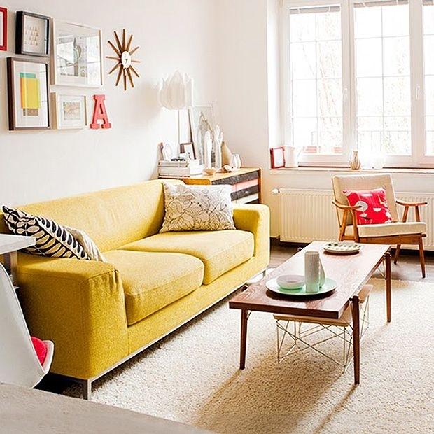 Mid Century Classics   Dotandbo   Furnish   Pinterest   Mid Inside Yellow Sofa Chairs (Image 4 of 10)