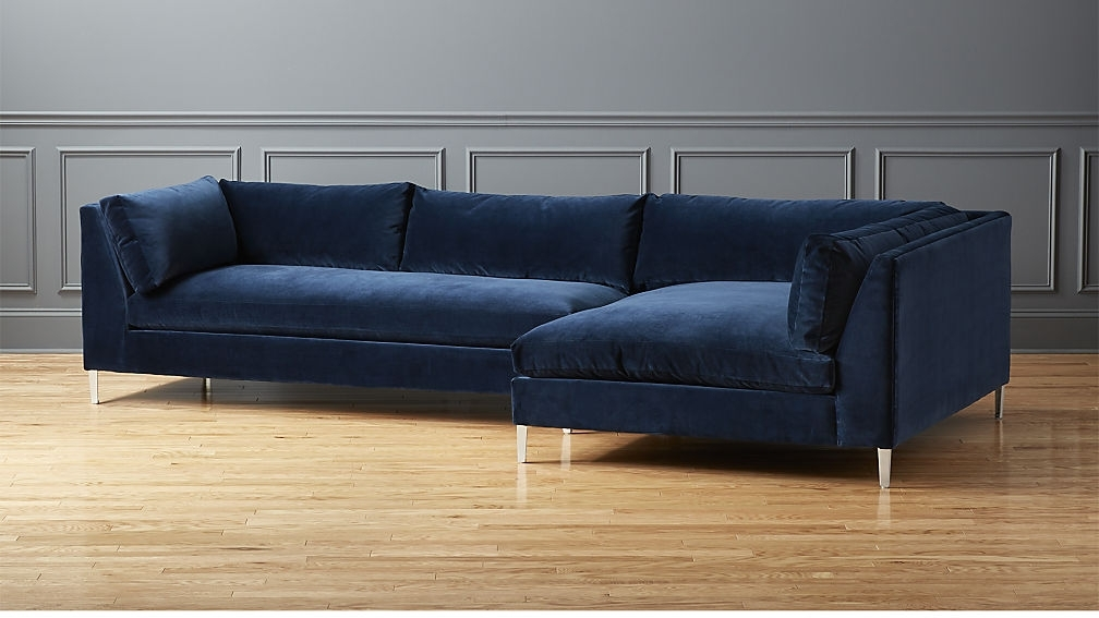 Midnight Blue Sectional Sofa — Radionigerialagos Inside Blue Sectional Sofas (Image 5 of 10)