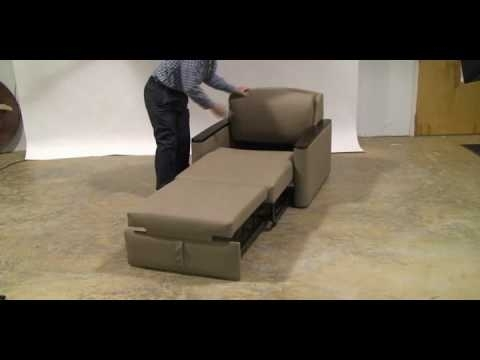 Miller Four Position Pull Out Chair/sleeper – Youtube Inside Pull Out Sofa Chairs (View 2 of 10)