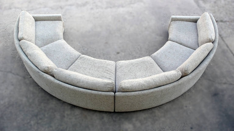 Milo Baughman Semi Circular Party Sofa At 1Stdibs Regarding Semicircular Sofas (Image 3 of 13)