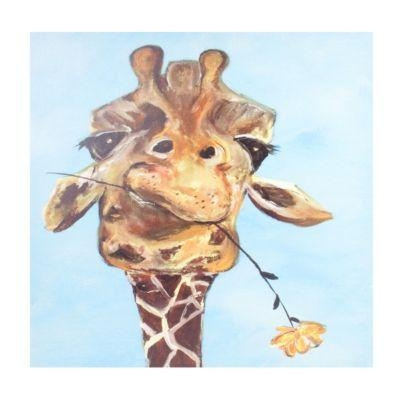 Featured Image of Giraffe Canvas Wall Art