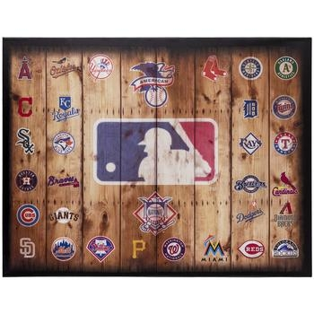 Mlb Logos Canvas Wall Decor | Hobby Lobby | 537985 In Canvas Wall Art At Hobby Lobby (View 17 of 20)