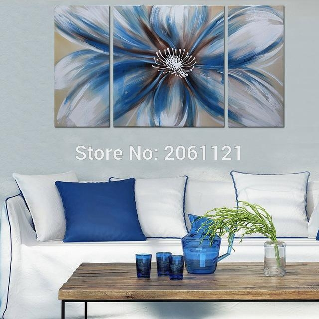 Modern 100% Hand Painted Artwork Abstract Floral Oil Paintings For Abstract Floral Canvas Wall Art (Image 18 of 20)