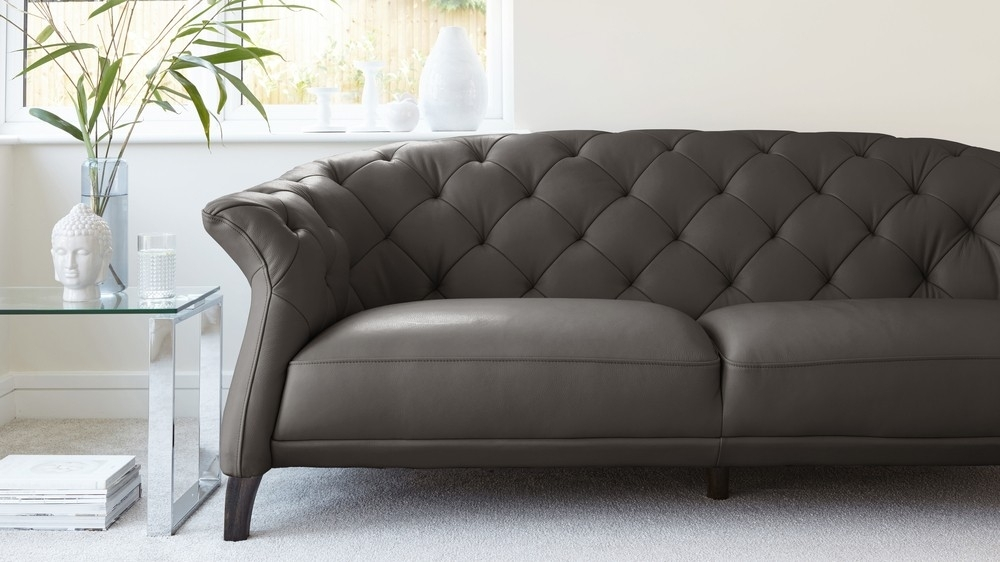 Modern 2 Seater Leather Chesterfield Sofa | Uk In Modern 3 Seater Sofas (View 2 of 10)