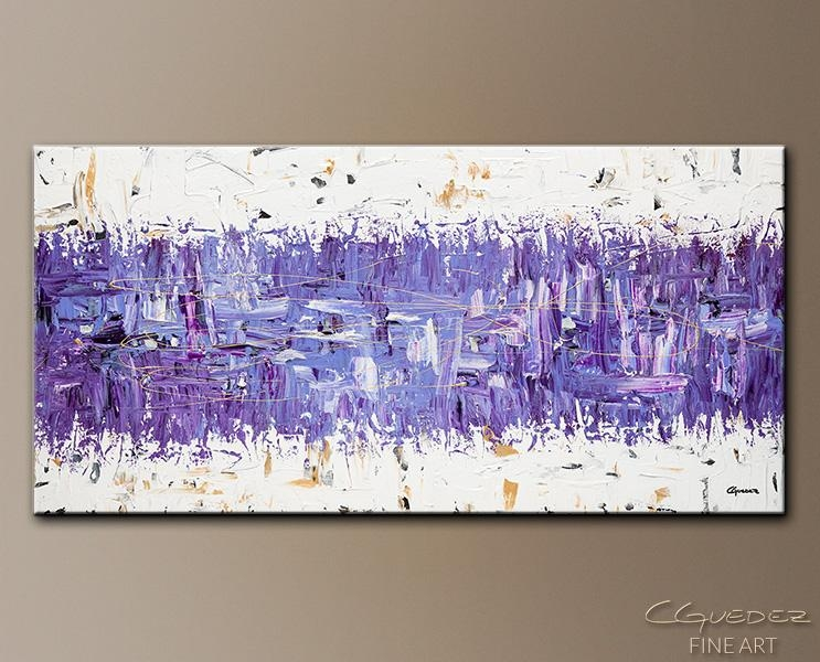 Modern Abstract Art – Purple Story – Contemporary Wall Art Canvas Pertaining To Purple And Grey Abstract Wall Art (Image 10 of 20)