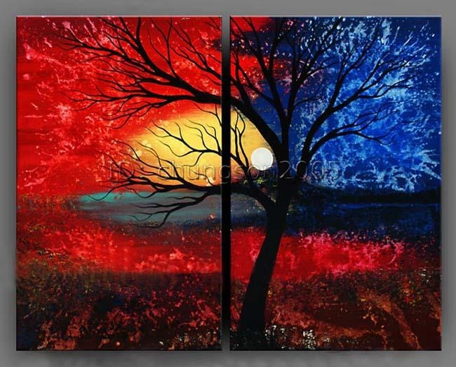 Modern Abstract Canvas Art Oil Painting Framed Gop Sale – Tierra For Modern Abstract Oil Painting Wall Art (View 13 of 20)