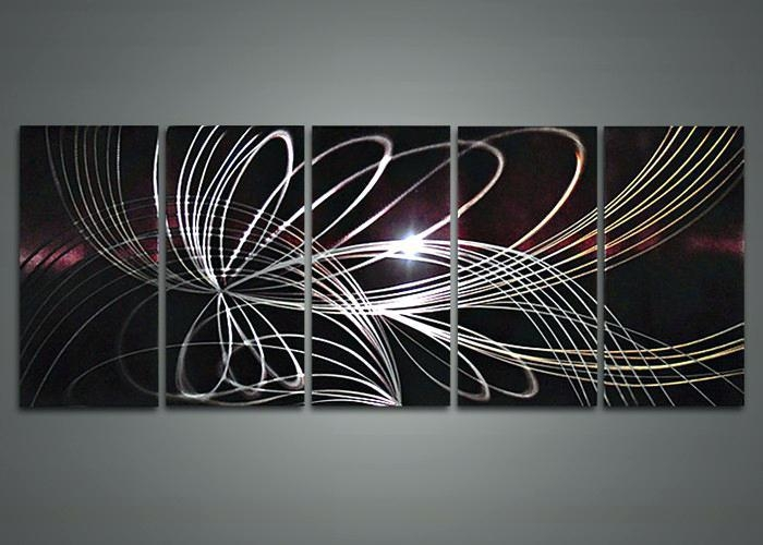 Modern Abstract Metal Wall Art Sculpture – Bestonline Inside Abstract Metal Wall Art With Clock (Image 17 of 20)