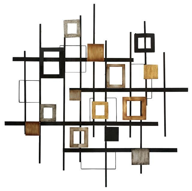 Modern Abstract Metal Wall Art Sculpture – Bestonline Pertaining To Abstract Iron Wall Art (Image 14 of 20)