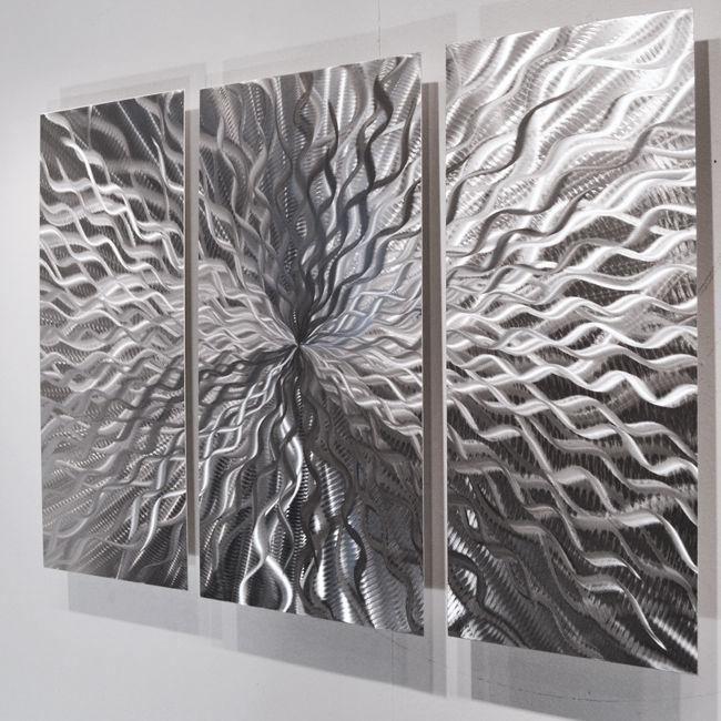 Modern Abstract Metal Wall Sculpture Art Contemporary Painting With Regard To Abstract Metal Wall Art Painting (Image 15 of 20)