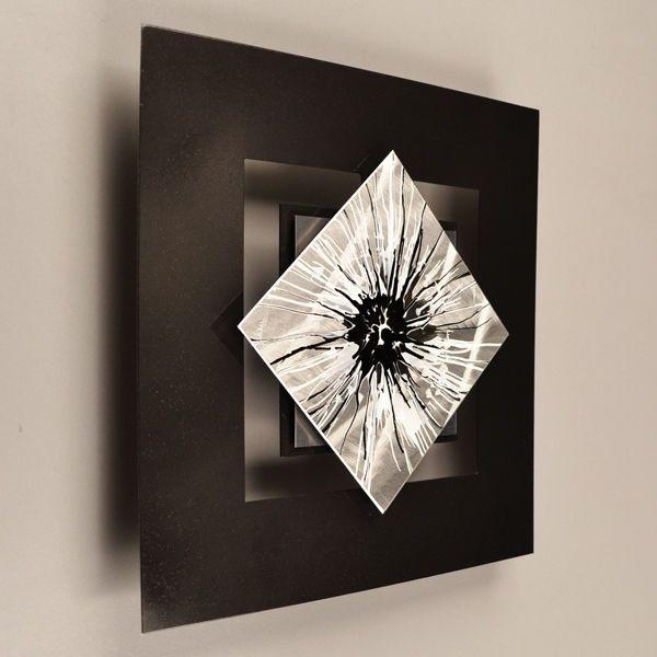 Modern Abstract Metal Wall Sculpture Art Painting Home Decor Pertaining To Abstract Metal Wall Art Sculptures (View 20 of 20)