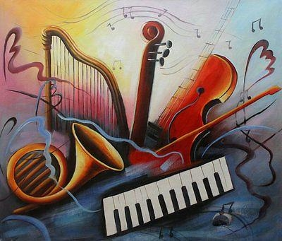 Modern Abstract Oil Painting Music Dance Canvas Living Room Wall Regarding Abstract Music Wall Art (Image 10 of 20)