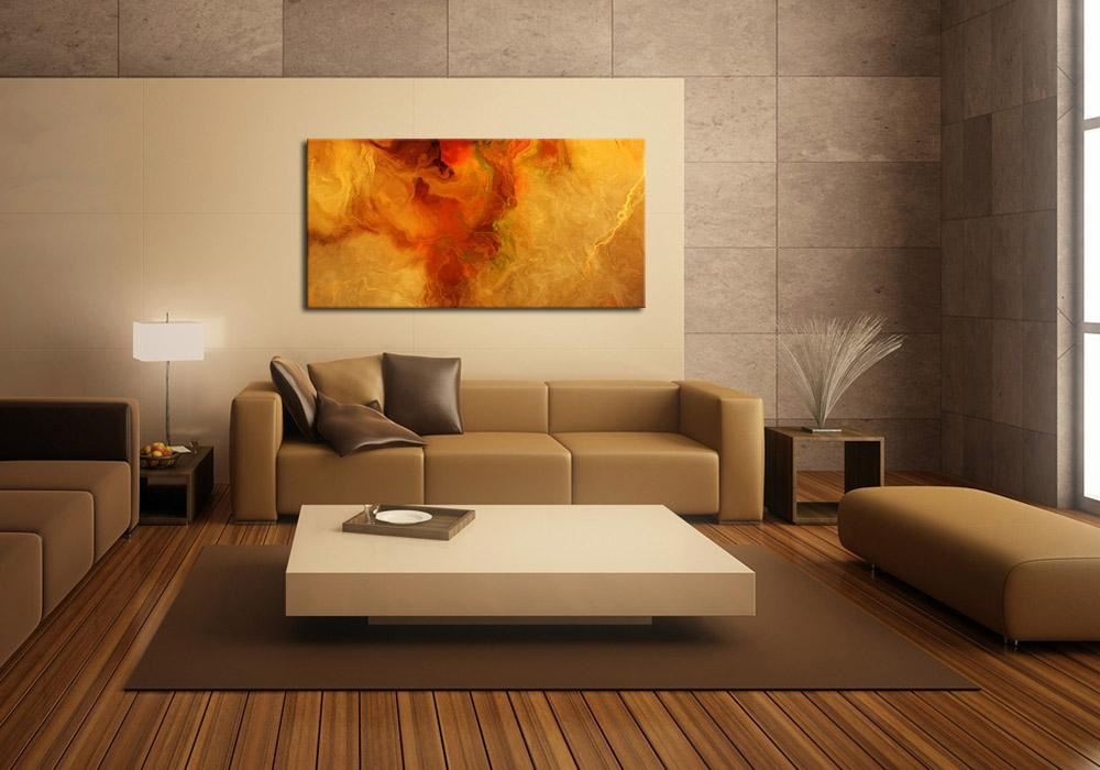 Modern Art Print On Canvas – Warm Embrace Intended For Giant Abstract Wall Art (View 9 of 20)