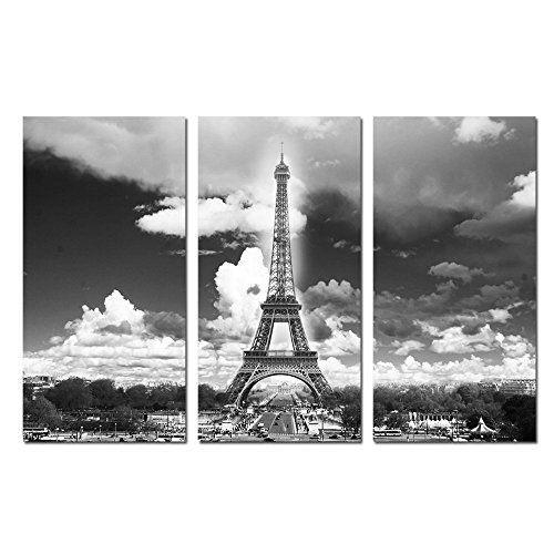 Modern Canvas Wall Art Black And White Paris Eiffel Tower Picture Inside Eiffel Tower Canvas Wall Art (Image 13 of 20)