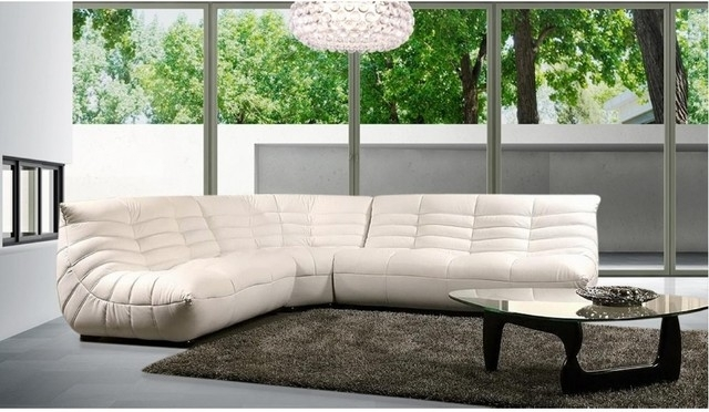 Modern Comfortable Leather Sectional Sofa – Modern – Living Room In Comfortable Sectional Sofas (View 6 of 10)