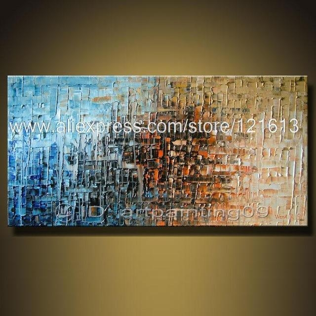 Modern Contemporary Abstract Landscape Oil Paintings Palette Knife Regarding Abstract Landscape Wall Art (View 7 of 20)