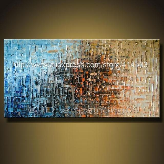 Modern Contemporary Abstract Landscape Oil Paintings Palette Knife With Regard To Inexpensive Abstract Wall Art (Image 8 of 20)