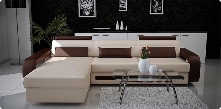 Modern Custom Leather Sofa Sectional Sofas And Sofa Furniture In For Sectional Sofas For Condos (Image 6 of 10)