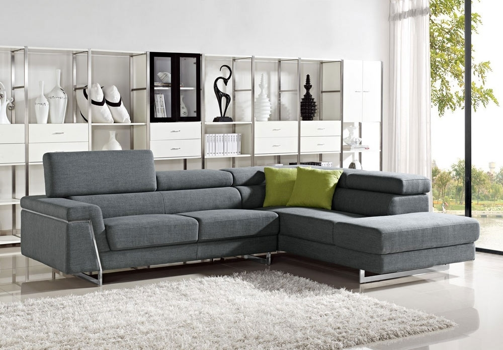 Modern Fabric Sectional Sofa Sets – Elites Home Decor Within Contemporary Sectional Sofas (Image 2 of 10)