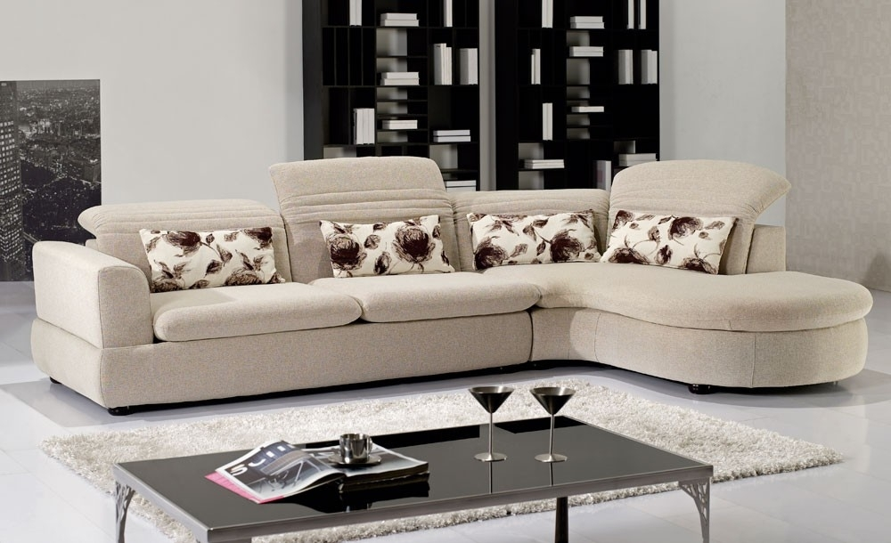 Modern Fabric Sectional With Orlando Sectional Sofas (Image 1 of 10)