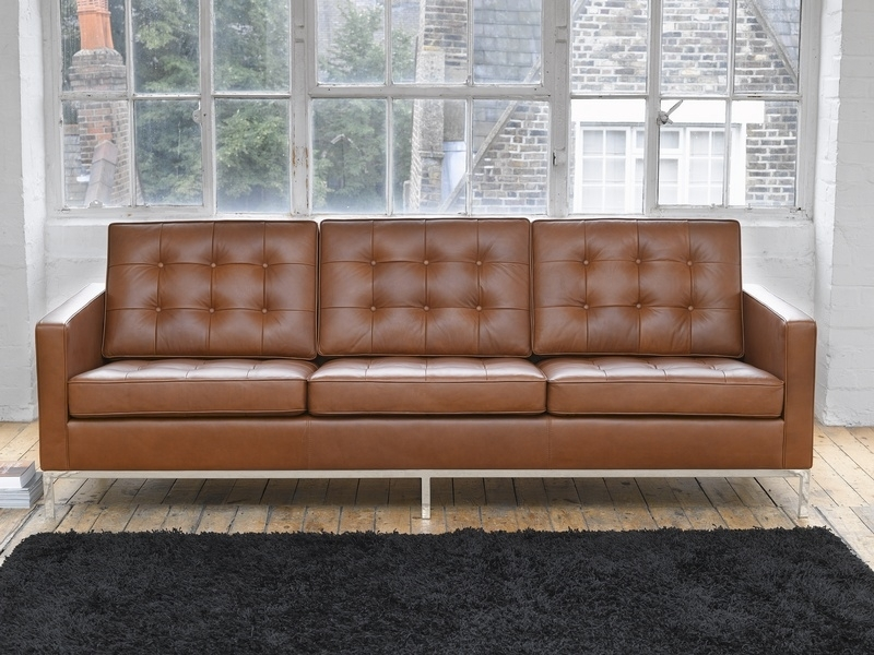 Modern Florence Knoll Style Sofa D16 In Decorating Home Ideas With With Florence Knoll Style Sofas (Image 10 of 10)