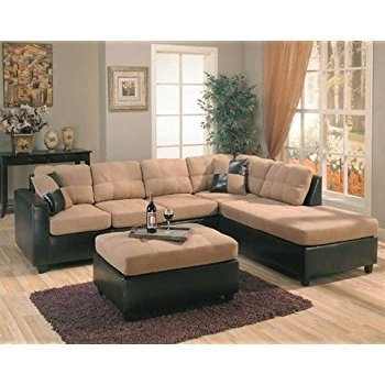 Modern L Shaped Couch Regarding Amazon Com Harlow Right Two Tone With L Shaped Sectional Sofas (Image 7 of 10)