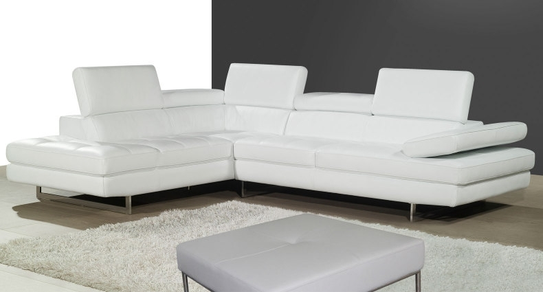 Modern Leather Corner Sofas Create The Wow Factor In Your Home Within White Leather Corner Sofas (Image 4 of 10)