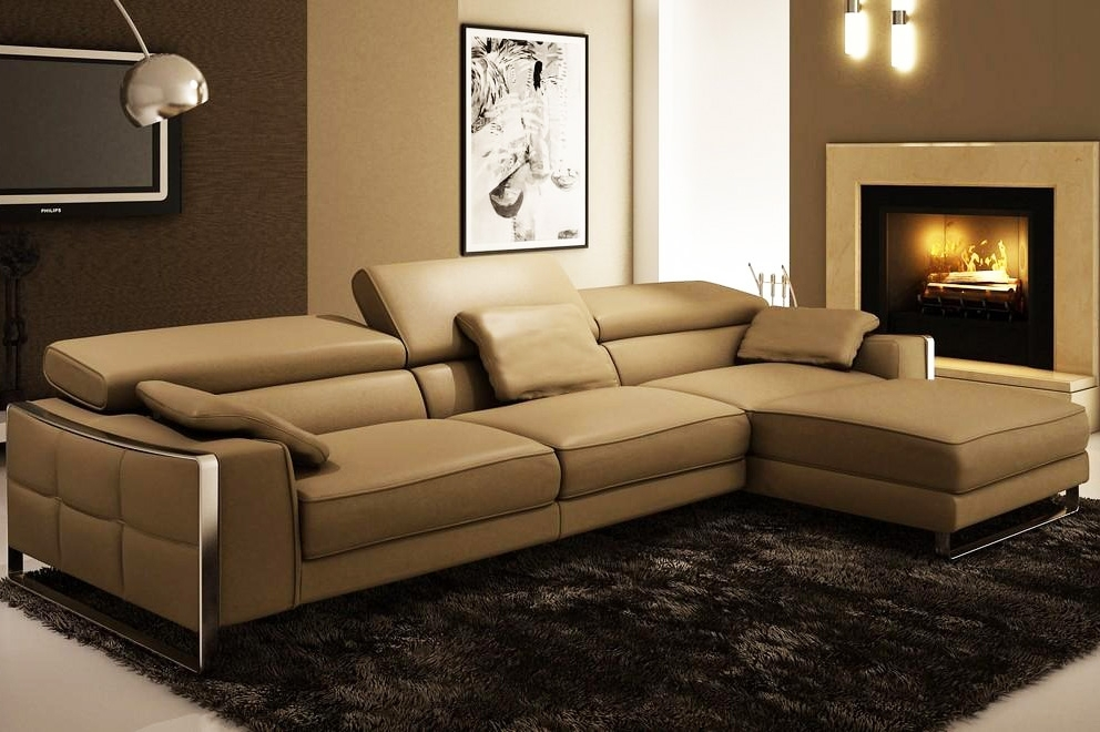 Modern Leather Sectional Sofa Flavio | Leather Sectionals For Vancouver Bc Sectional Sofas (Image 2 of 10)