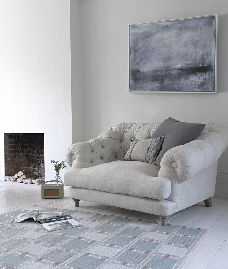 Modern Rustic Style Ideas | Armchairs, Living Room Ideas And Living Inside Large Sofa Chairs (Image 5 of 10)