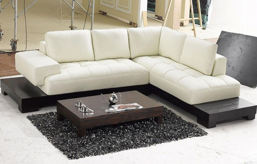 Modern Sectional Couch Modern Beige Leather Sectional Sofas Cheap Throughout Modern Sectional Sofas (Image 4 of 10)