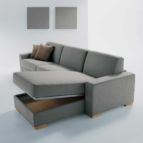 Modern Sofa With Chaise Lounge And There Are Secret Storage | Chaise Pertaining To Sectional Sofas With Storage (View 4 of 10)