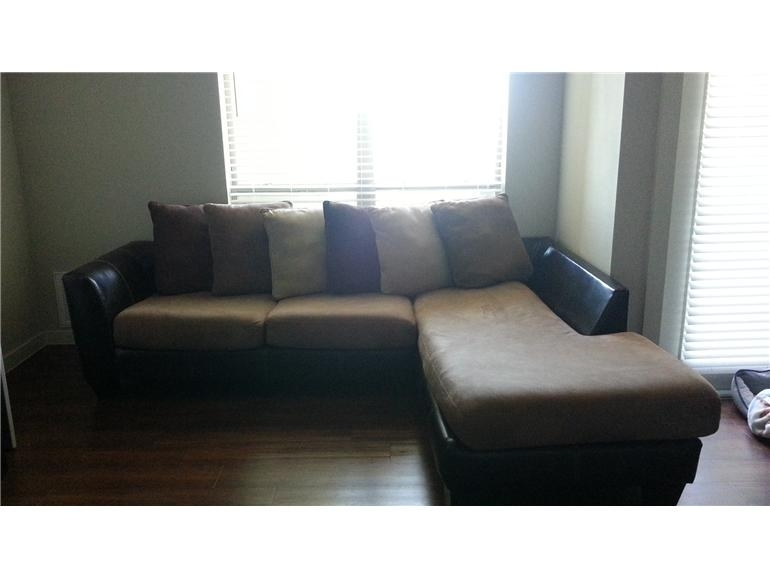 Modern Style Austin Sectional Sofa With Microfiber Sectional Sofa Throughout Austin Sectional Sofas (Image 4 of 10)
