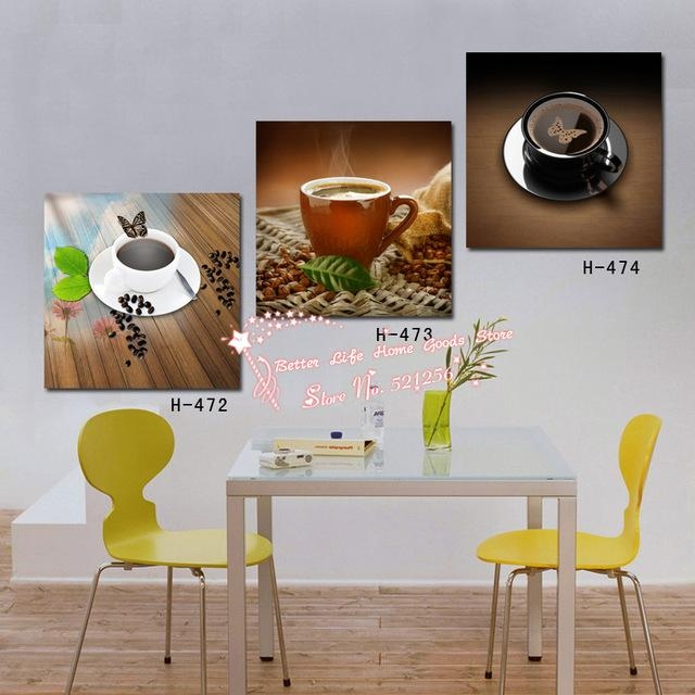 Modern Wall Art Home Decoration Printed Oil Painting Pictures 3 Pertaining To Abstract Kitchen Wall Art (Image 16 of 20)