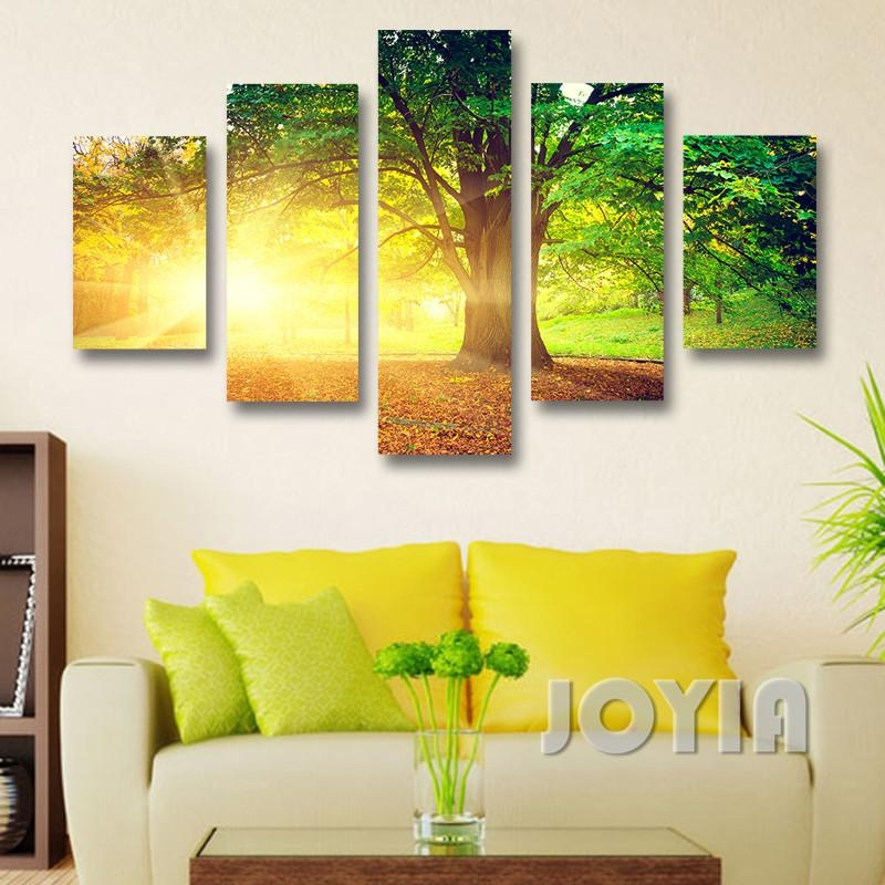 Modern Wall Decor Canvas Prints Morning Sunrise Abstract Landscape Intended For Abstract Nature Wall Art (Image 10 of 20)