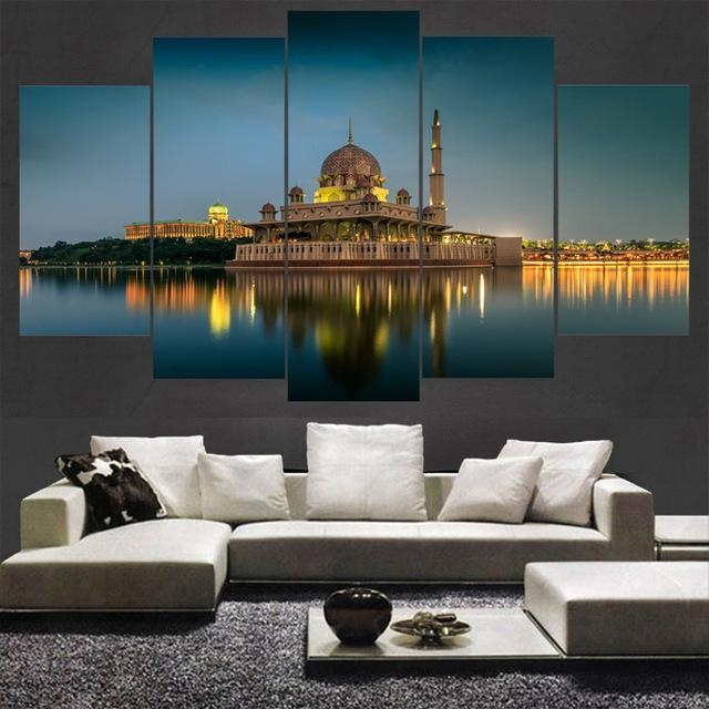 Modern Wall Frame Art Canvas Prints Canvas 5 Panel Malaysia With Malaysia Canvas Wall Art (Image 13 of 20)