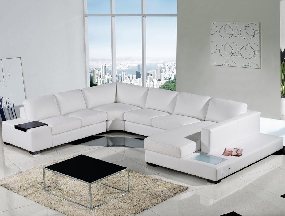 Modern White Leather Sectional Sofa | Eva Furniture With Regard To White Sectional Sofas (Image 3 of 10)