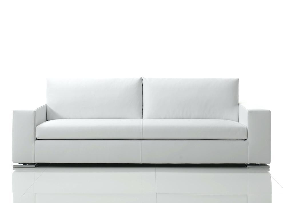 Modern White Leather Sofa – Smovie Regarding White Modern Sofas (View 8 of 10)