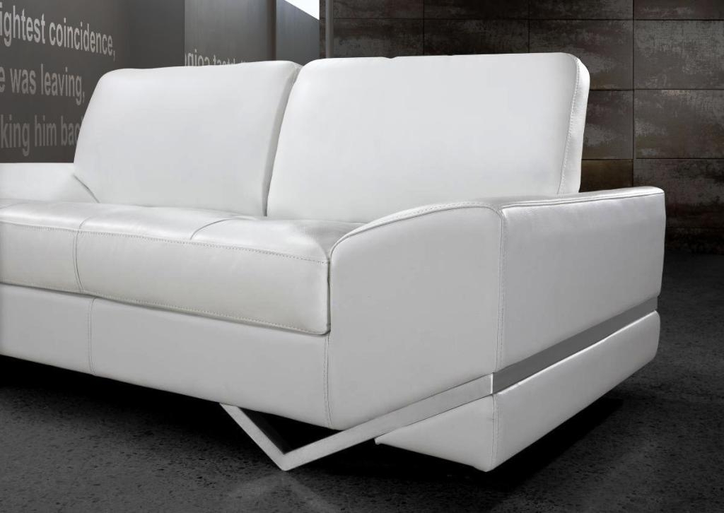 Modern White Leather Sofas : The Holland – White Modern Sofa Designs Within White Modern Sofas (Image 5 of 10)