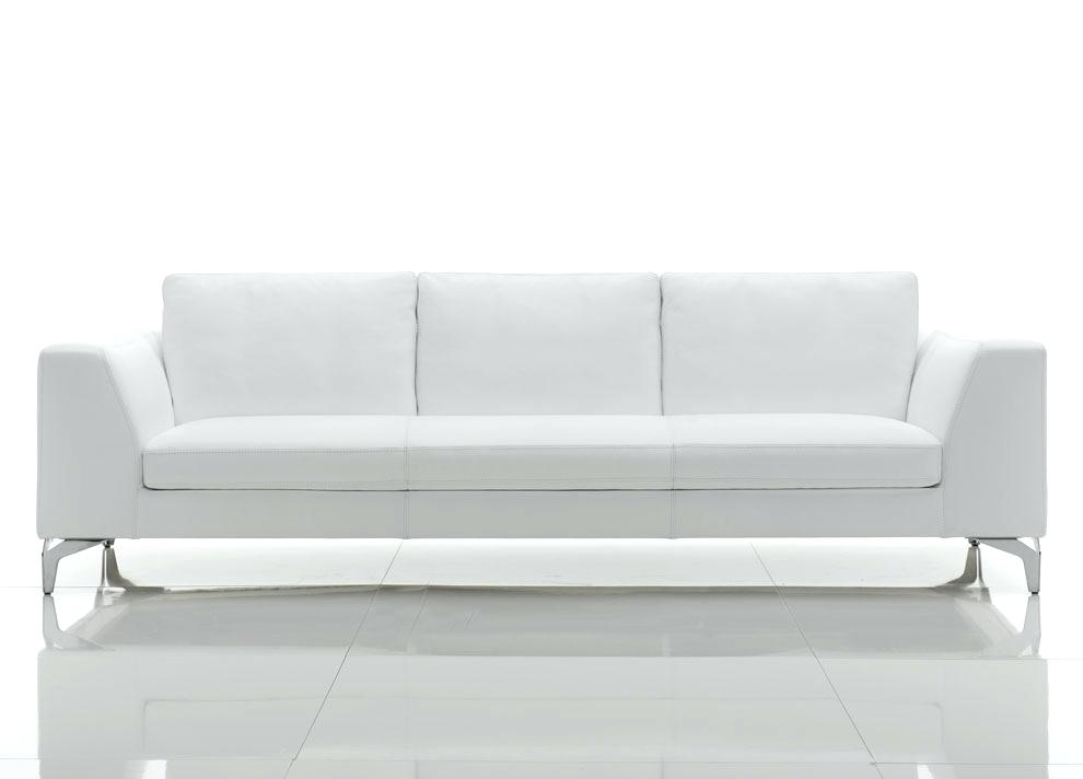Modern White Sofa Modern White Compact Leather Sectional Sofa With Regard To White Modern Sofas (Image 6 of 10)