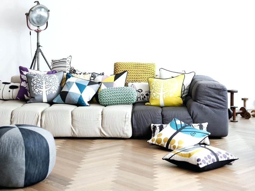 Modular Floor Cushions Sofas – Nurani Inside Floor Cushion Sofas (Image 10 of 10)