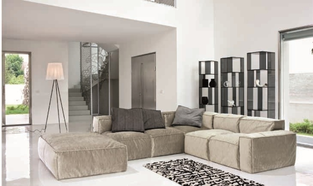 Modular Sectional Sofa For Small Spaces — Fabrizio Design : Modular With Regard To Small Modular Sectional Sofas (Image 3 of 10)