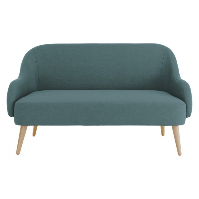 Momo Teal Blue Fabric 2 Seater Sofa | Buy Now At Habitat Uk Inside 2 Seater Sofas (Image 8 of 10)