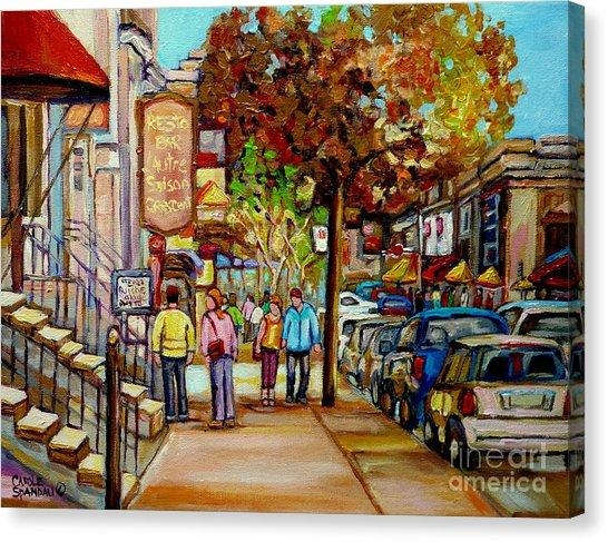 Montreal Street Scene Canvas Prints (Page #4 Of 69) | Fine Art America Inside Montreal Canvas Wall Art (Image 16 of 20)