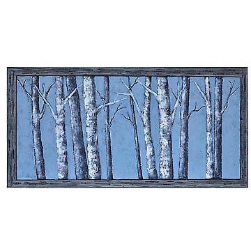 Moon Light Winter Birch Trees Canvas Wall Art 30 X 60 Inch | Ebay Inside Birch Trees Canvas Wall Art (Image 12 of 20)