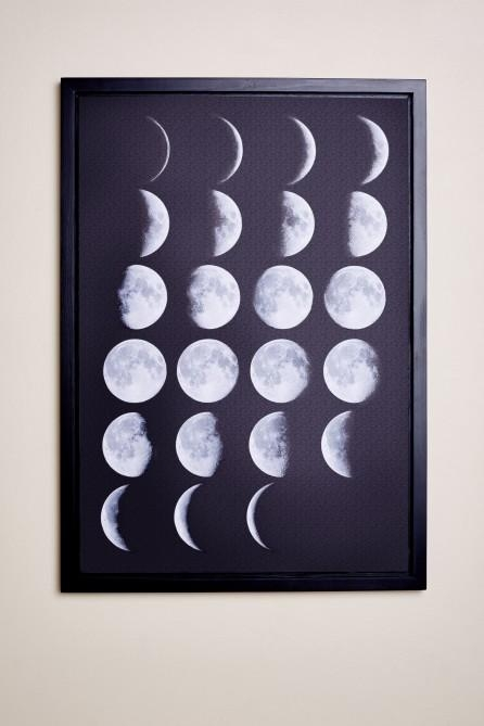 Moon Phases Framed Canvas Art – Earthbound Trading Co With Earthbound Canvas Wall Art (View 14 of 20)