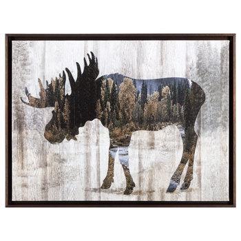Moose Framed Canvas Wall Decor | Hobby Lobby | 1301506 Throughout Canvas Wall Art At Hobby Lobby (View 12 of 20)