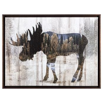 Moose Framed Canvas Wall Decor | Hobby Lobby | 1301506 With Hobby Lobby Canvas Wall Art (Image 14 of 20)