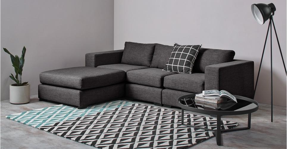 Mortimer 4 Seat Modular Corner Sofa, Seal Grey | Made Inside Modular Corner Sofas (Image 7 of 10)