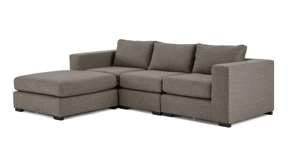 Mortimer 4 Seat Modular Sofa, Chalk Grey | Made Throughout Modular Corner Sofas (Image 8 of 10)
